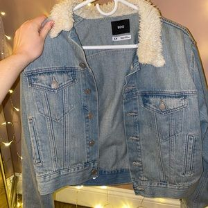 Urban outfitters cropped denim jacket
